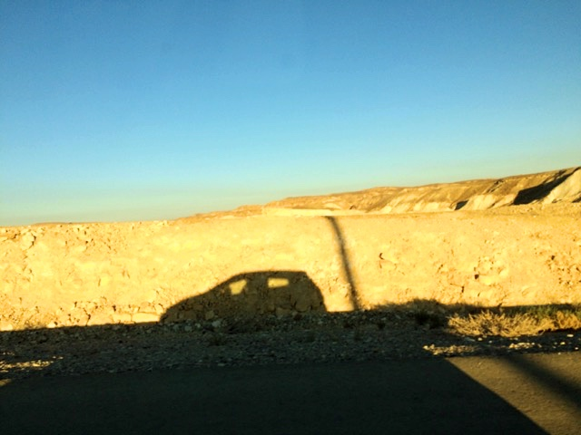 shadow play car street road negev desert road trip israel