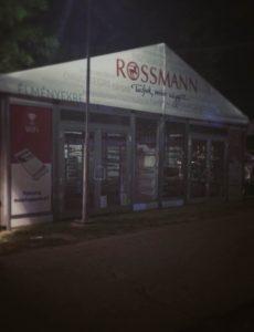 rossmann drogerie sziget festival tent