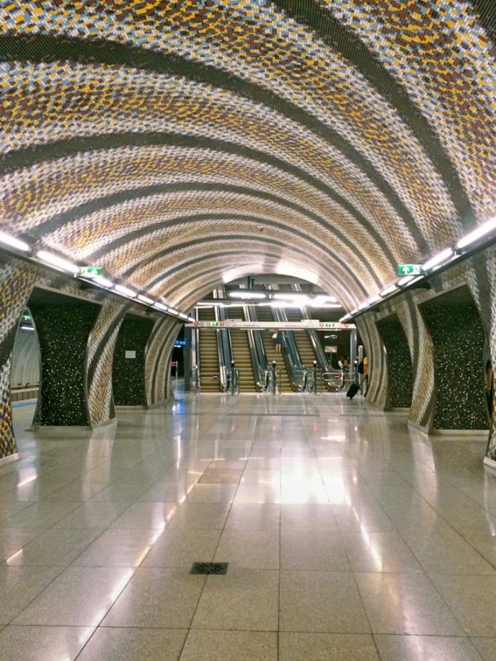 szent gellert ter metro stop underground M4 Budapest public transport public sphere architecture station
