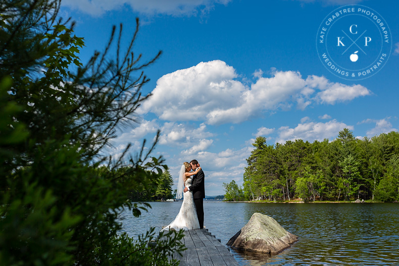 Laura and Dans Millinocket Maine Wedding  Maine Wedding