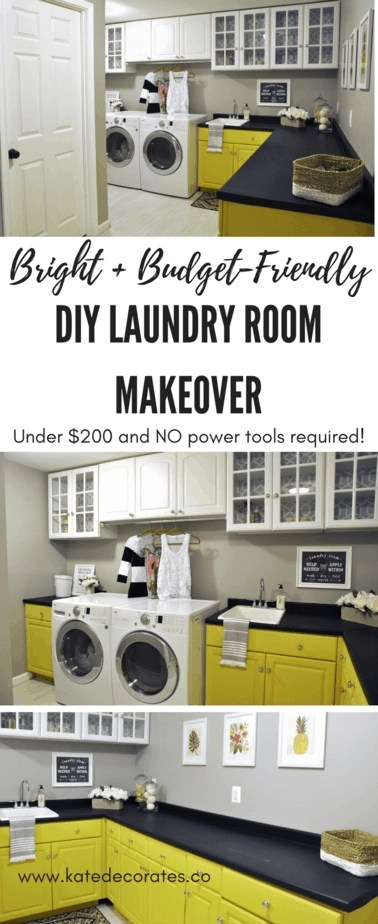 Before and After Our Laundry Room Makeover Reveal For Under 200