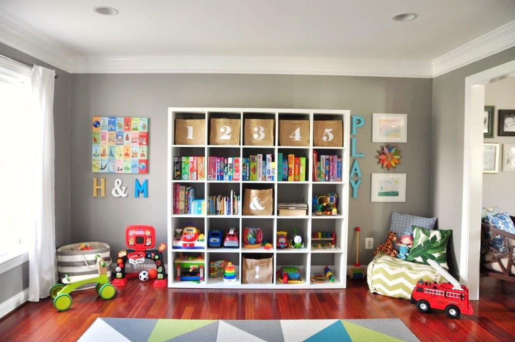 organize playroom modern kids