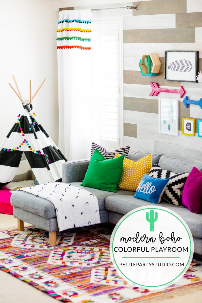 10 colorful playroom ideas that you 39 ll love kate decorates for Land of nod playroom ideas