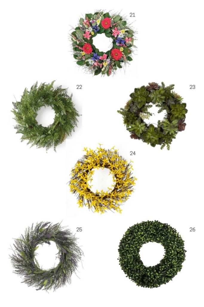spring curb appeal wreaths