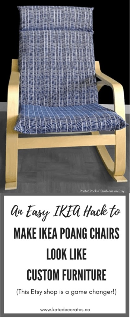 WOW - How did I not know about this Etsy shop? What an awesome way to turn IKEA chairs from boring to beautiful. Love this!