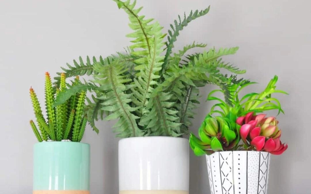 Mudcloth-Inspired DIY Ceramic Planter + FREE Printable Wall Art
