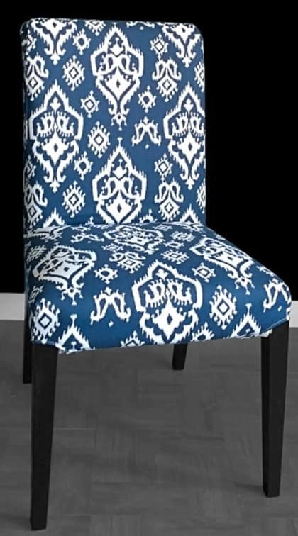custom chair covers ikea pottery barn nursery this henriksdal hack makes your affordable dining chairs look | kate decorates