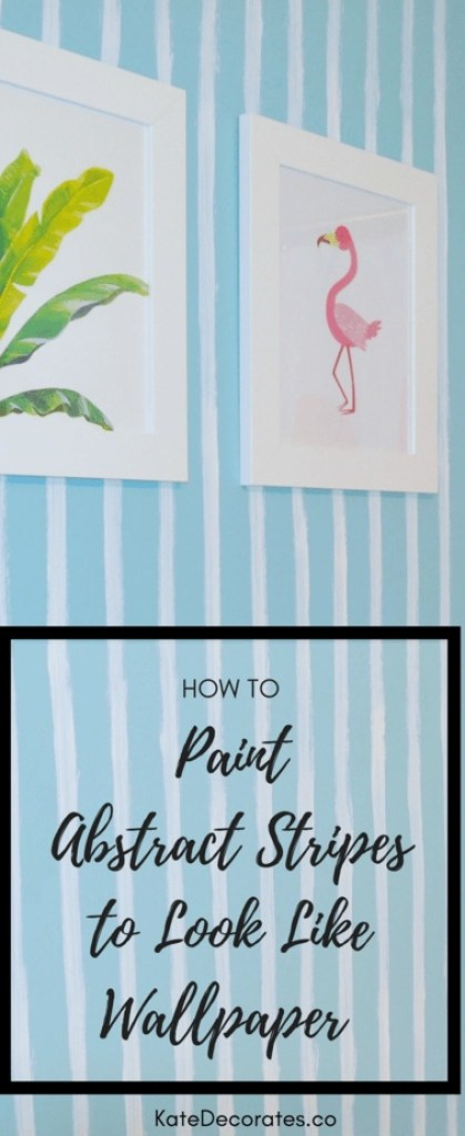 Such a good idea to get the look of wallpaper for a whole lot less! Love these DIY abstract wall stripes.