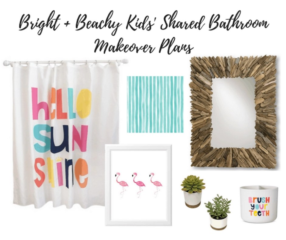 Our Bright + Beachy Shared Bathroom Makeover Plans