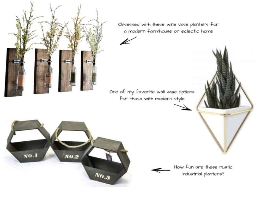wall vase options