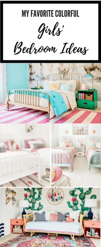 This roundup of gorgeous and colorful girls' bedroom ideas is full of great inspo!