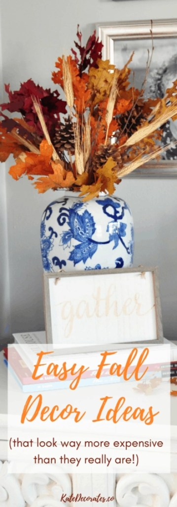 These easy fall decorating ideas are inexpensive yet sophisticated. So many good ideas here!