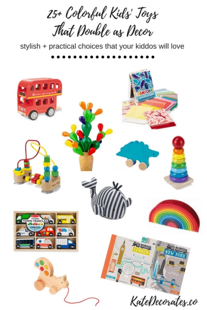 These colorful toys are the CUTEST! Who knew kids' decor could be so stylish?