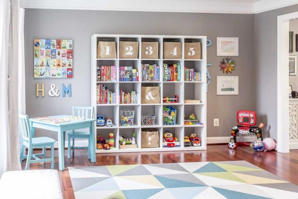 organize declutter kids room playroom 2