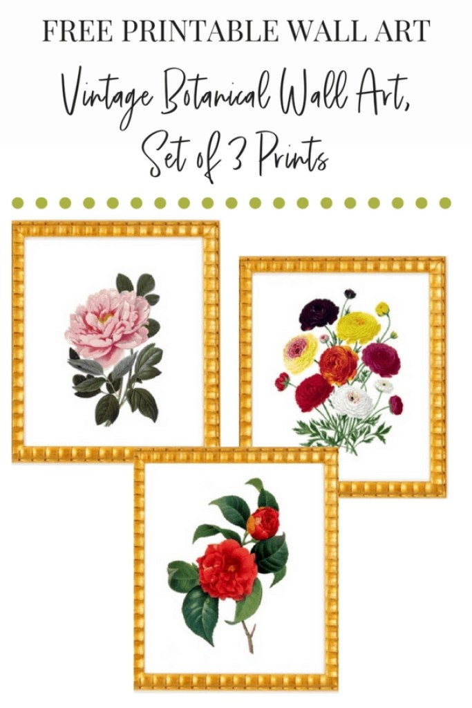 This FREE printable wall art is beautiful and totally on trend for the season. Love it!