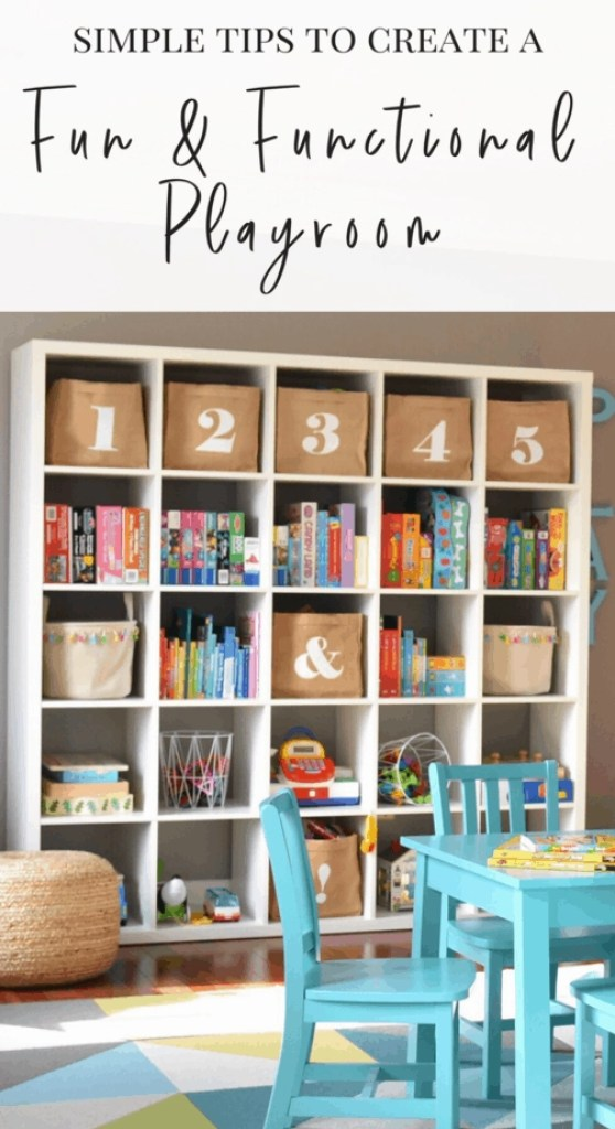 Love these tips for creating a colorful, stylish and functional playroom for the kids.