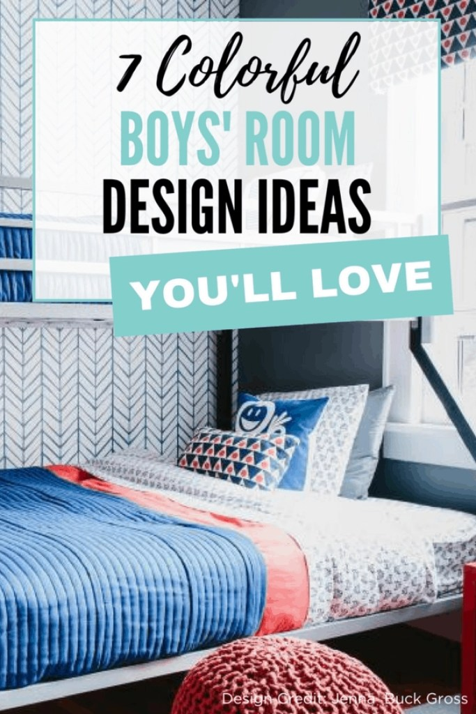 Love these colorful boys' room design ideas!