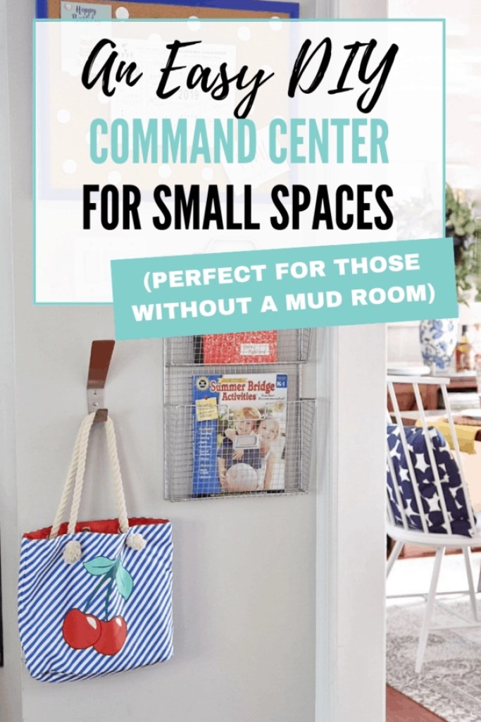 This DIY command center is easy and perfect for small spaces