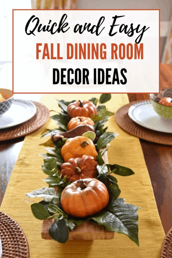 Loving these stylish but easy fall dining room decor ideas!
