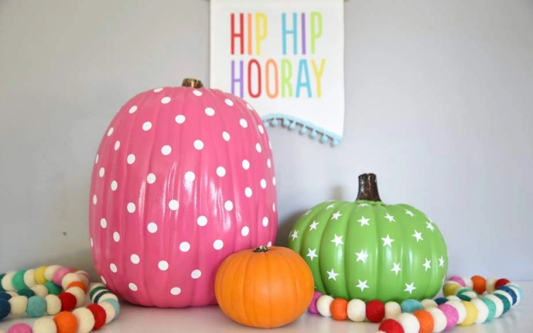 Ten-Minute DIY Pumpkin Decor: Colorful Patterned Pumpkins for Fall