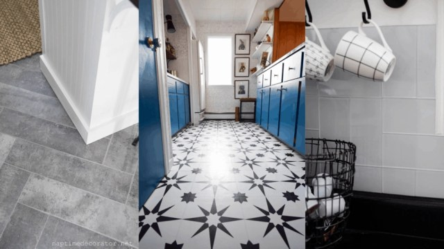 peel stick tile feature
