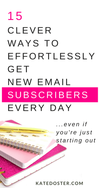 how to grow your email list when your just starting out. My 15 best tips for growing your email list as a new blogger. #listbuildingtips #emaillist