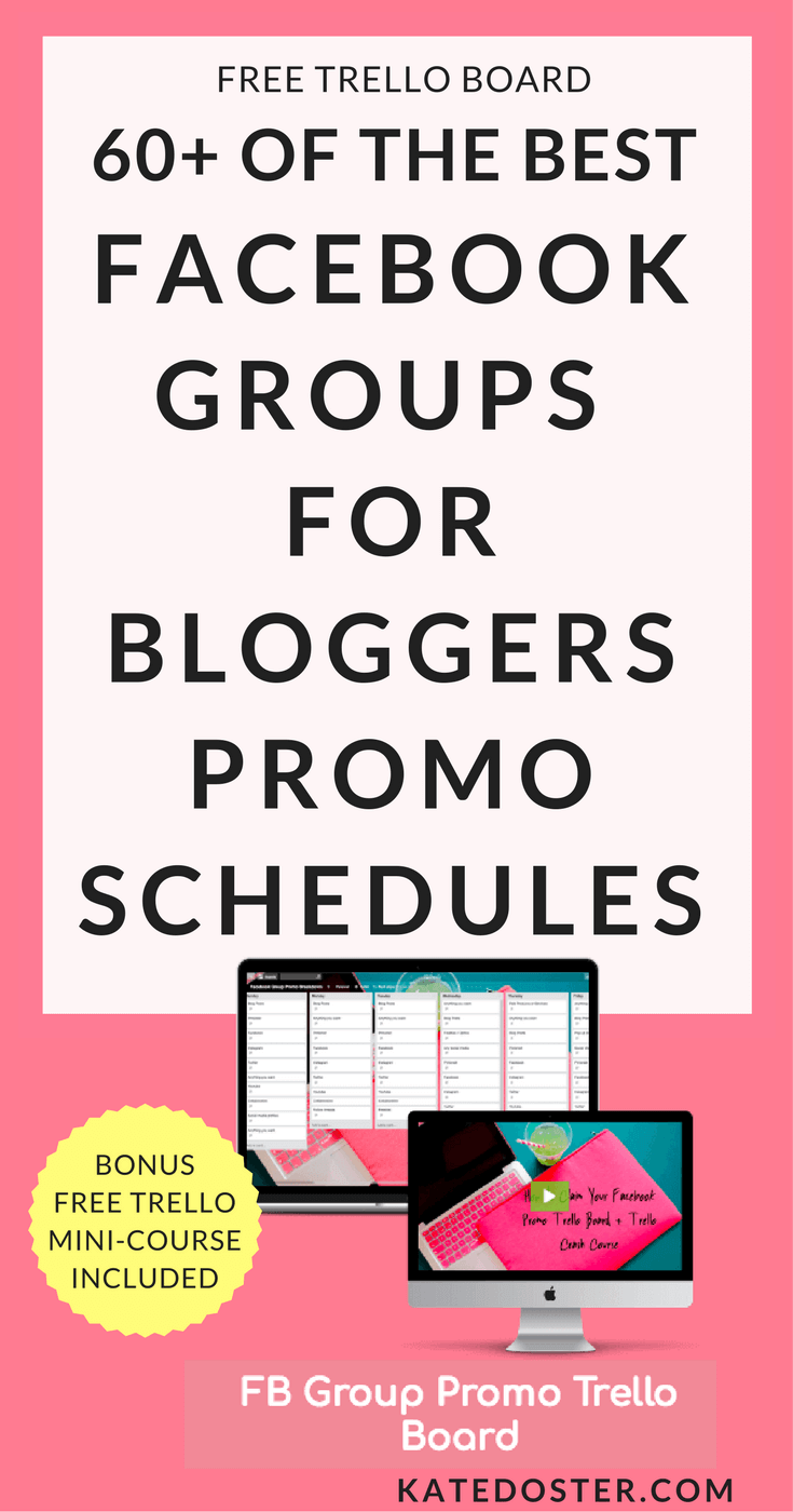 The Best Facebook Groups For Bloggers - Promo schedule in a free Trello Board. Perfect for New Bloggers who want to build their traffic for free.