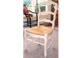 white ladder back chairs rush seats office portland country french ladderback chair dining room side in milk paint with seat