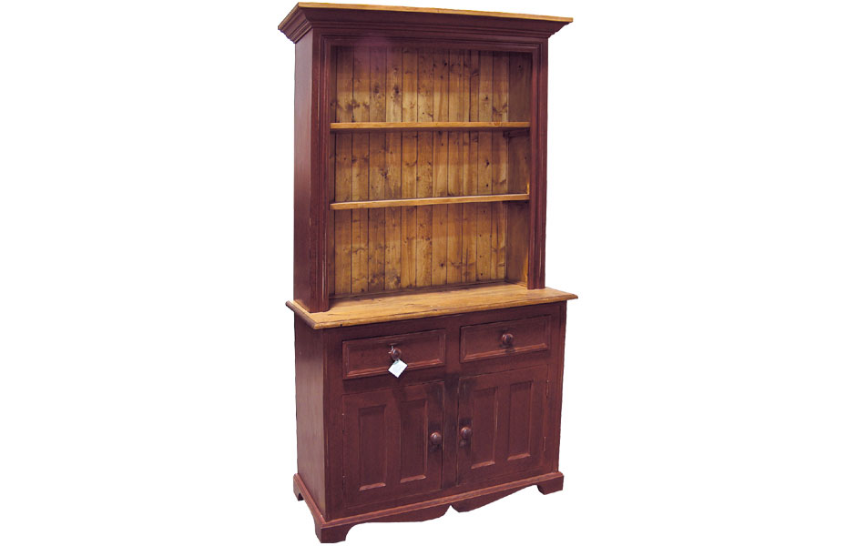 French Country 2 Door Open Shelf Stepback Cupboard French Country Dining Room Furniture Kate