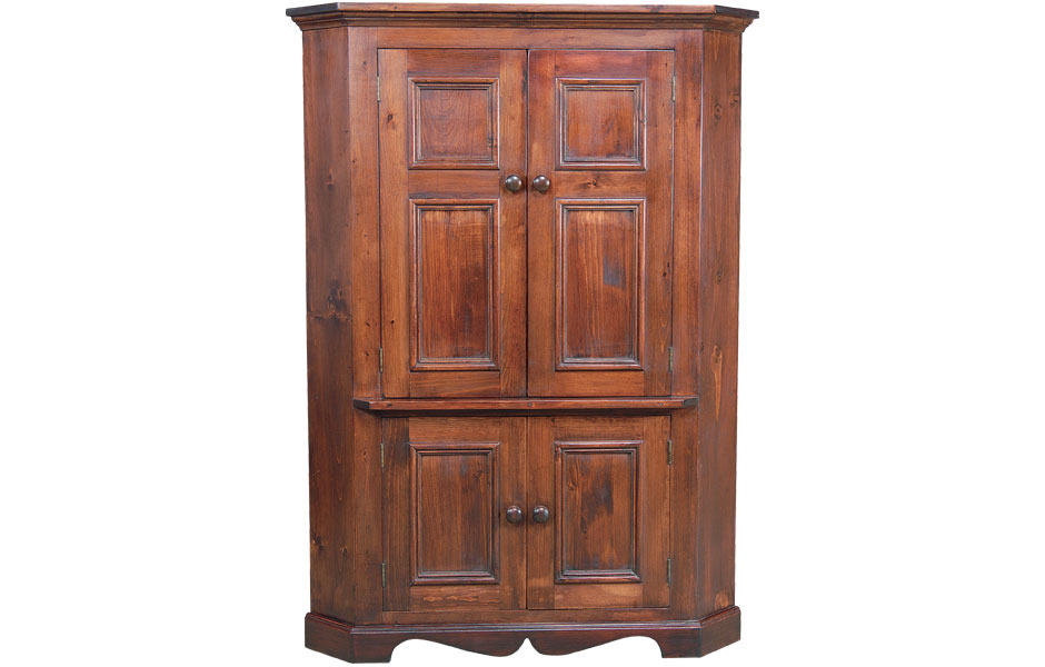 French Country Corner TV Armoire