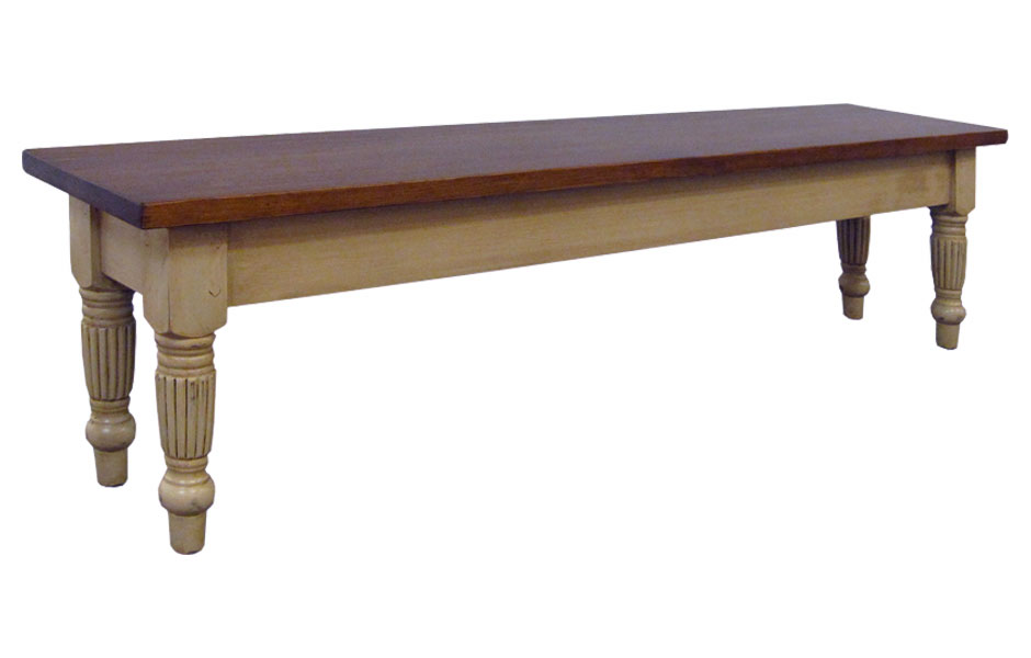French Country Fluted Leg Bench French Country Dining