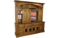 French Country Provincial TV Armoire with Bifold Doors ...