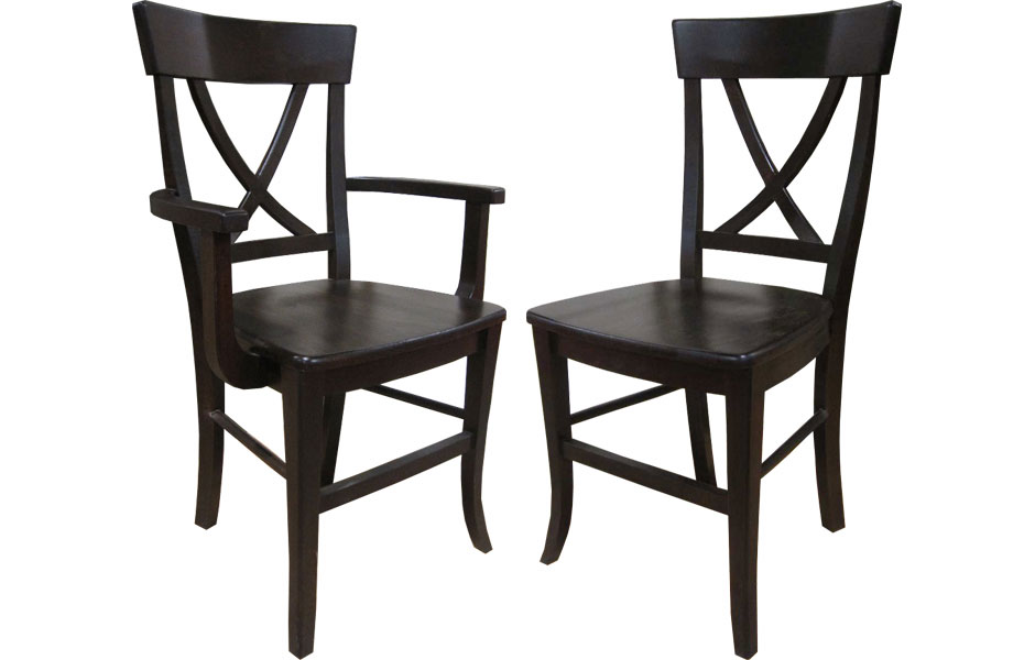 x back chairs big lounge chair french country dining arm and side