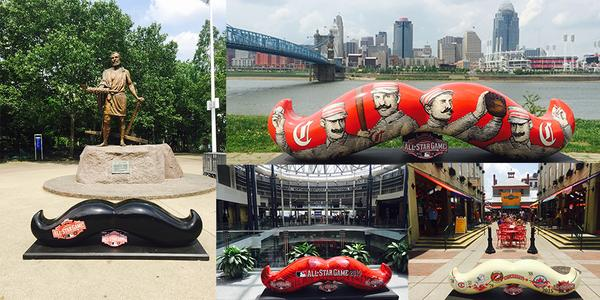 Mustaches in Cincinnati from @AllStarGame on Twitter.