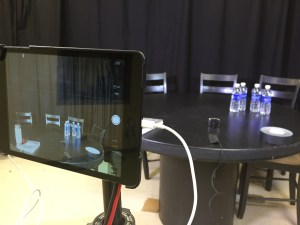 An iPad set up in a studio with one mic and minimal lighting was all it took a group of students with the New Mexico News Port to start a live broadcast from the campus of the University of New Mexico.