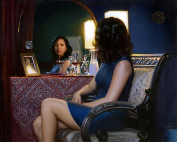 The Vanity, oil painting by Kate Sammons