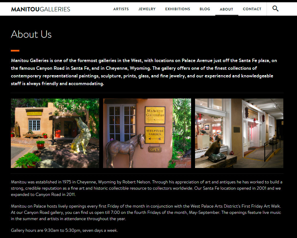 About Manitou Galleries