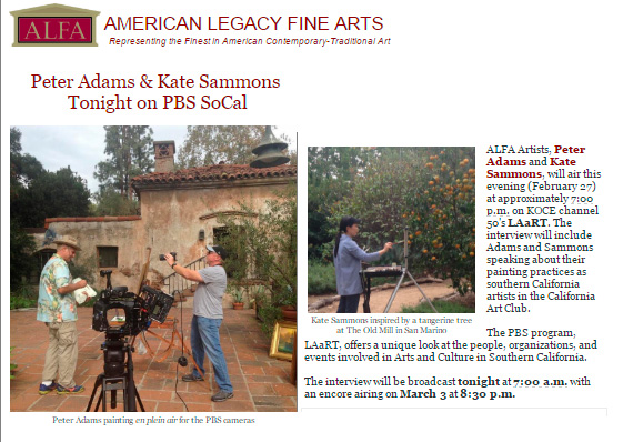 Interview to be aired on PBS LAaRT this week