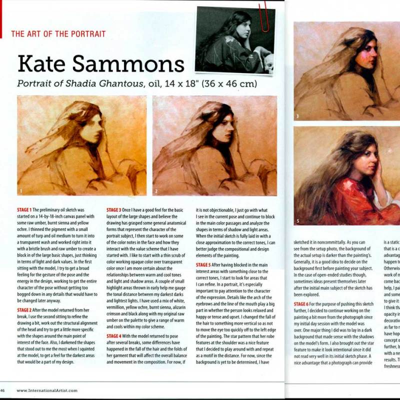 International Artist Magazine June/July Issue- Step by Step