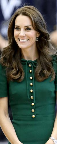 Monica Vinader Green Onyx Siren Wire Earrings - Kate Middleton Earrings - Kate's Closet