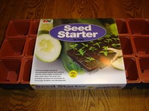 from Walmart - 18 pack seed starter kit