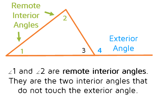 Exterior Angle Theorem  KATES MATH LESSONS