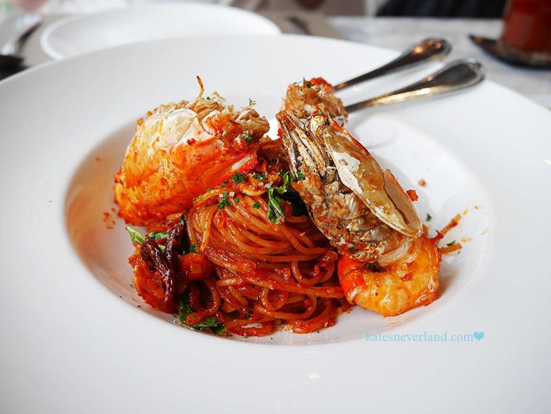 Audrey cafe glamour --Spaghetti Spicy Dry Chilli with River Prawn