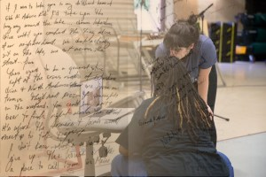Image of Kayla & Kate with writing overlaid