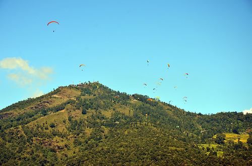 Hang Gliders in Pokhara.