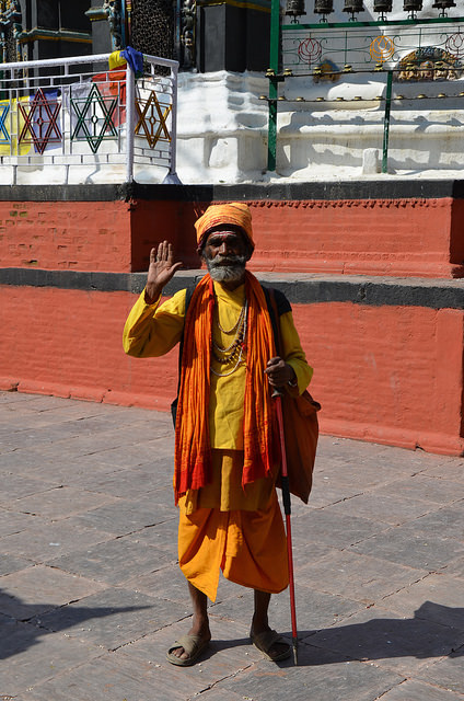 Holy Man in Kathmandu, Nepal.