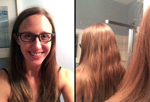 This is a photo of my hair before using Monat haircare products.