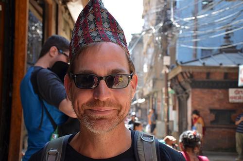 Jason in a Haka Topi Kathmandu, Nepal.