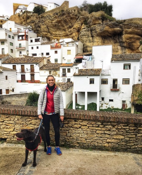 setenil de ls bodegas with a dog