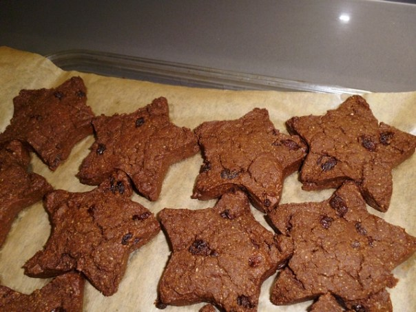 Vegan Chocolate Star Cookies